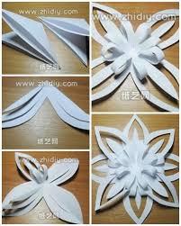 Origami Snowflakes How To Fold Paper Craft Snowflake Step Diy Printable