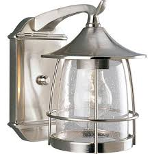 nickel brushed outdoor lighting bellacor