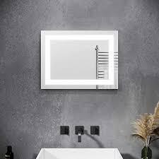 sonni badspiegel mit beleuchtung 60 x 50 cm badspiegel ohne