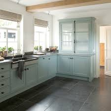 tasty turquoise kitchens the large grey slate tiles on the