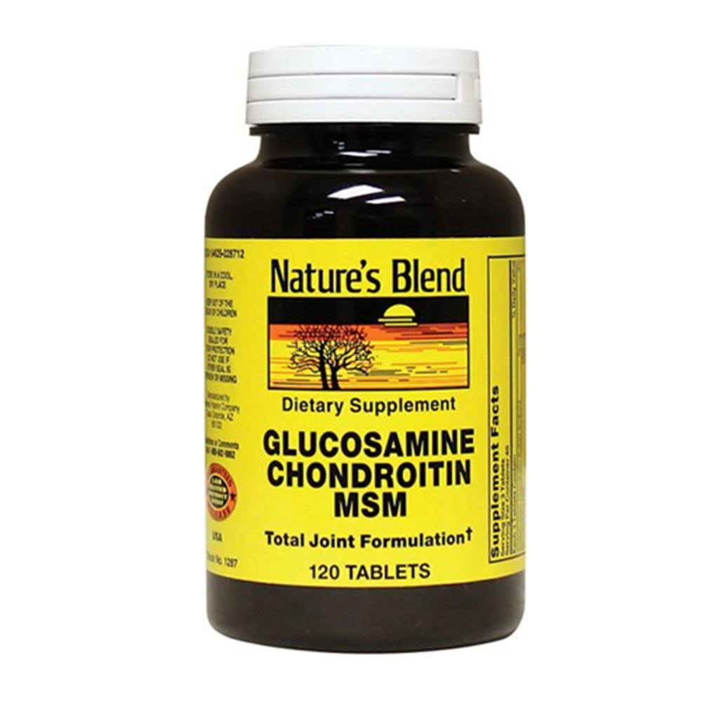Nature's Blend Glucosamine Chondroitin MSM Dietary Supplement - 120 Tablets
