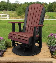amish patio poly adirondack swivel glider chair