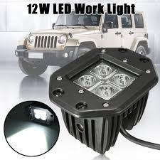 100 Atv Truck For Jeep ATV SUV 12W 6000k 4 Led Pod Lights Car Spot Beam High