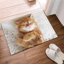 gohebe tier deko die schöne katze bad teppich rutschfest