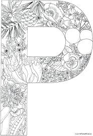 Full Image For Pplantsjpg 535a786 Alphabet Coloring Pagescoloring Pages Adults Free Printable