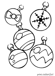 Coloring Pages Printable Christmas Ornaments Within