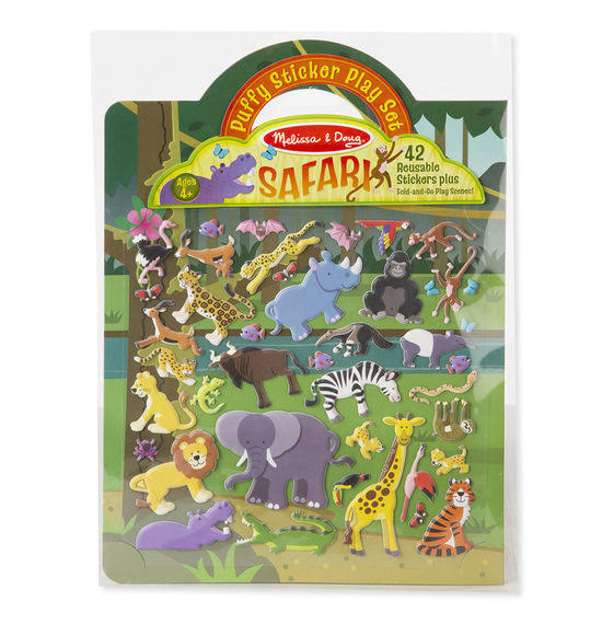 Melissa & Doug Puffy Stickers Play Set, Safari