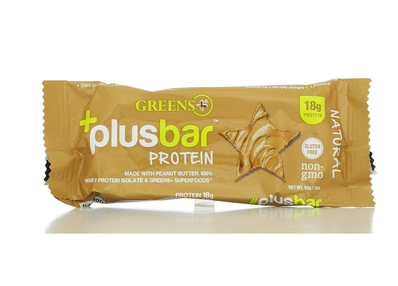 Greens Plus Natural Peanut Butter Protein Bar - 2.08oz, x12