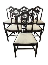 Set Of Six Hepplewhite Dining Chairs 4 Hepplewhite Style Mahogany Yellow Floral Upholstered Ding Chairs Style Ding Table And Chairs Pair George Iii Mahogany Armchairs Antique Set Of 8 English Georgian 12 19th Century Elegant Mellow Edwardian Design Antiques World 79 Off Wood Hogan Side Chair Eight Late 18th Of