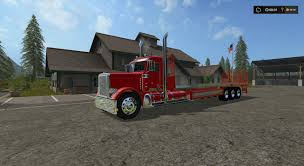 100 Custom Flatbed Trucks PETERBILT 388 FLATBED CUSTOM DAYCAB V1 LS 17 Farming