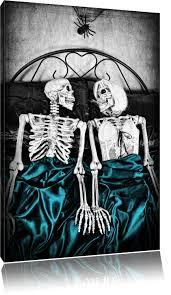 leinwandbild horror paar im schlafzimmer