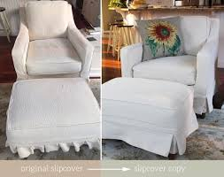 Stretch Slipcovers For Sofa by Furniture Perfect For Unexpected Guests With Ottoman Slipcovers