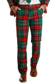 The Lincoln Log Love Daddy Ugly Christmas Red Plaid Suit Pants