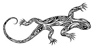 Tribal Lizard Drawing Trafficclub