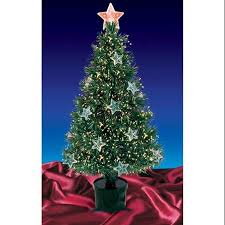Get Quotations 3 Pre Lit Fiber Optic Artificial Christmas Tree With Stars