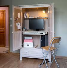 armoire bureau transformer une armoire en bureau