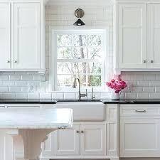 beveled marble subway tile kitchen backsplash bathroom