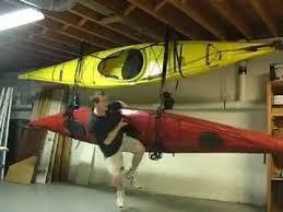 Kayak Hoist Ceiling Rack by Handy Hooker Canoe And Kayak Storage Hoist U0026 Load Lock Stabilized