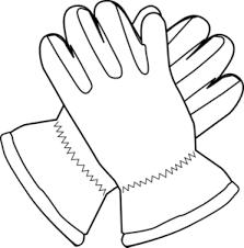 Gloves Outline Clip Art at Clker vector clip art online