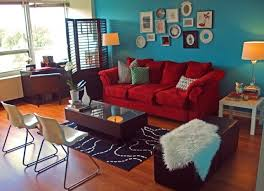 Teal Living Room Walls by Inspiration For Bedroom One Teal Accent One Red Curtains Grey