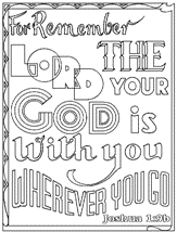 FREE Scripture Doodle Bible Colouring Page Joshua 19 Remember The Lord Your