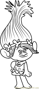 Princess Poppy From Trolls Coloring Page