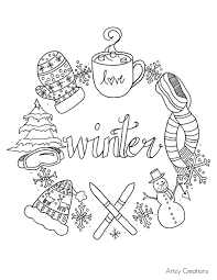Free Winter Coloring Page Throughout Cold Weather Pages