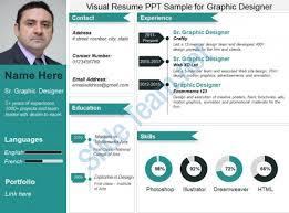 Visual Resume Ppt Sample For Graphic Designer Slide01 Slide02