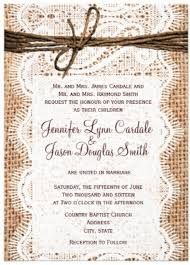 Rustic Country Burlap Lace Twine Wedding Invitations For A Printed Two Sided Design With Bow Cheap Discount Sale Price Of