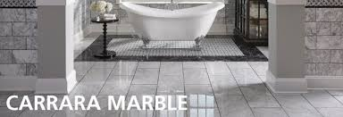 carrara marble floor decor