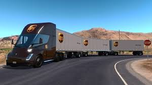 Tesla Semi Truck With Trailer 2019 (ATS 1.31.x) Mod For American ... Hitting The Road Daimler Reveals Selfdriving Semitruck Semi Truck Axle Cfiguration Evan Transportation Us Manufacturer Beats Tesla To Stage With Electric Semitruck 2019 Volvo Vnl64t740 Sleeper Semi Truck For Sale Missoula Mt Red Royalty Free Vector Image Vecrstock Tamiya 114 Flatbed Trailer Tam56306 Cars Trucks Toyotas Hydrogen Smokes Class 8 Diesel In Drag Race Video 2000 Intertional 9400i Eagle Farr On Stock Photo Picture And Central Illinois Pullers Pulls Stereo Kenworth Peterbilt Freightliner Big Rig Waymo Will Begin Selfdriving Pilot In Atlanta Next Week