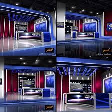 European News Studio 3d Max Virtual Sets Studio News
