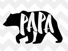 Papa Bear SVG Silhouette Father Print