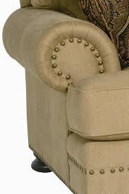 Bernhardt Foster Leather Furniture by Bernhardt Foster Stationary Sofa With Nailhead Trim Wayside