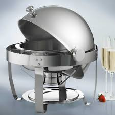 Image Is Loading Stainless Steel Chafing Dish Round Electric Chafer Pan
