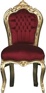 casa padrino barock esszimmer stuhl bordeaux gold möbel