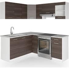 vicco küche küchenzeile l form küchenblock einbauküche komplettküche 167x187cm anthrazit