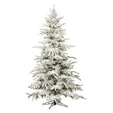 Fraser Fir Artificial Christmas Tree by Shop Fraser Hill Farm 7 Ft 6 In Pre Lit Mountain Pine Flocked