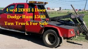 Used 2008 4-Door Dodge Ram 4500 Tow Truck For Sale - YouTube