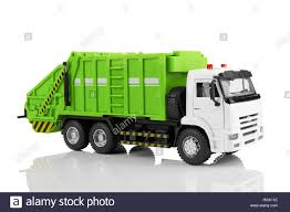 100 Garbage Truck Toy Truck Toy Isolated On A White Background Stock Photo