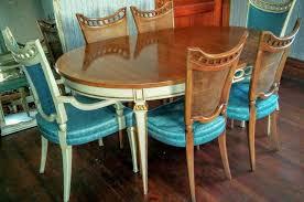 John Widdicomb Dining Room Set Table W 3 Leaves 6 Chairs French Regency LouisXIIIXIVXVXVI JohnWiddicomb