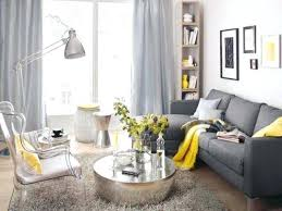 Curtains For A Gray Room Dark Grey Sofa Dove Yellow Textiles And Vase Walls