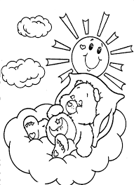 Care Bears Coloring Pages Bedtime Bear