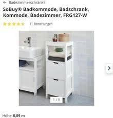 badezimmer kommode weiß ebay kleinanzeigen