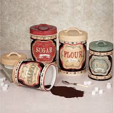Couuntry Ceramic Kitchen Canister Sets For Accessories Ideas