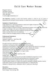 Child Care Worker Resume Examples Daycare Childcare Cover Letter Example Sample Best Ideas Of Director