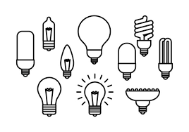 free light bulb line icon vector free vector stock