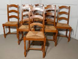 A Set Of 8 French Ladder Back Country Oak Dining Chairs - NC152 ... Guy Chaddock Melrose Custom Handmade Fniture Cf0485s Country French Ding Chairs With Ladder Back And Rush Seats Antique Farm Carved Tall Seat Room Set Of 6 Provincial In Walnut 10 Louis Xv Style Oak Leather Nailhead Recliner Chair Vintage White Of Four Six Xiv Ladderback Scalloped Stretchers Inspire Q Eleanor Wood 2 By Dec 16 2018