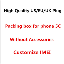 50PCS High Quality EU US Version For iphone 5C Empty Package Phone