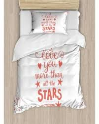 Bargains On I Love You More Twin Size Duvet Cover Set Quote Of
